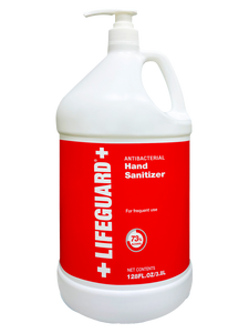 "LIFEGUARD ANTISEPTIC LIQUID HAND SANITIZER 1 Gallon -""PCR"" (4 per case) - $22.46 each/$89.85 per case"