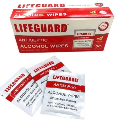 Individual Alcohol Wipe Packets | 50 Count