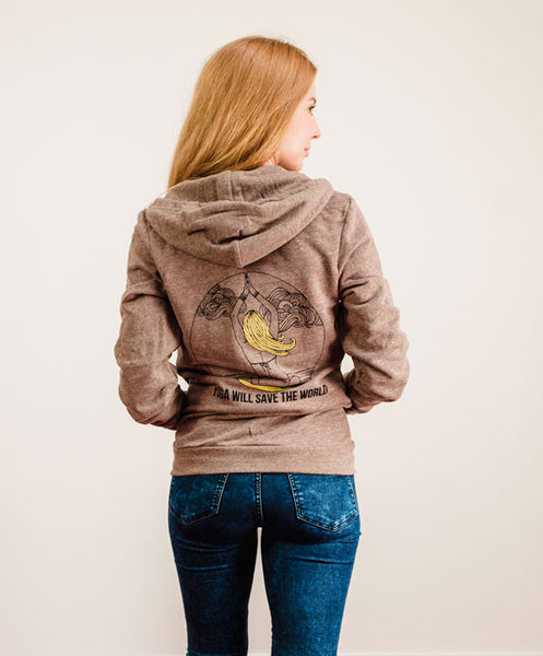 Mermaid Yogi Hoodie (Coffee)