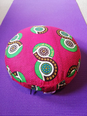 Shweshwe Round Meditation Cushion