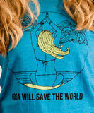 Blue Mermaid Yogi Tee - 100% Recycled!