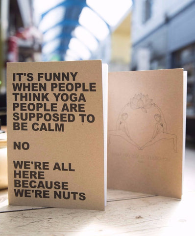 Recycled A5 Notebook: We're All Nuts!