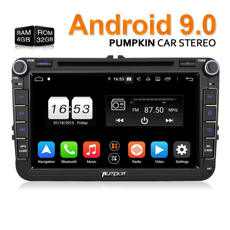 Pumpkin AA0437B installed in a 2014 VW Scirocco