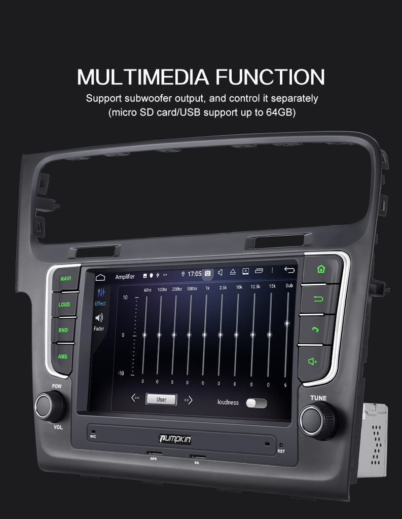 golf 7 touch screen radio
