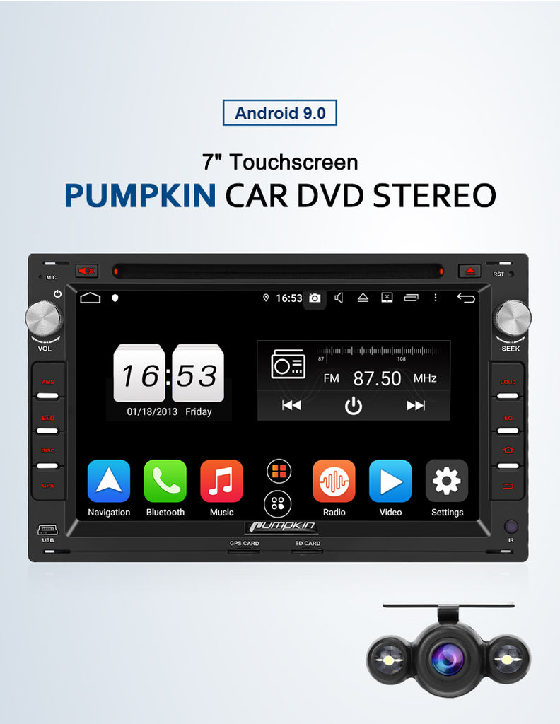 Pumpkin Android Head Unit with DVD Player