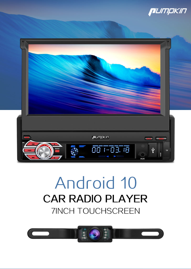single din head unit with backup camera