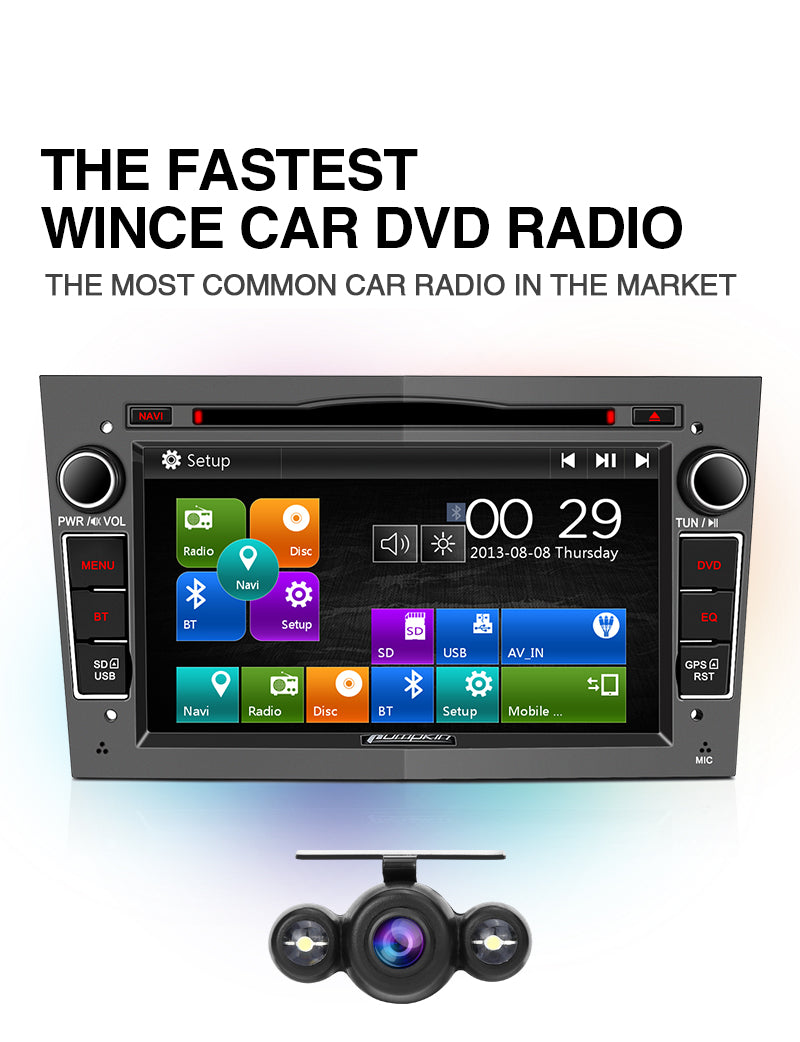Pumpkin 7 inch Wince 6.0 Car Radio GPS System for Opel Vauxhall with Reverse Camera
