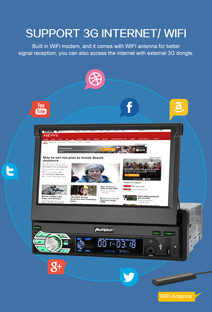 flip out car stereo with navigation uk