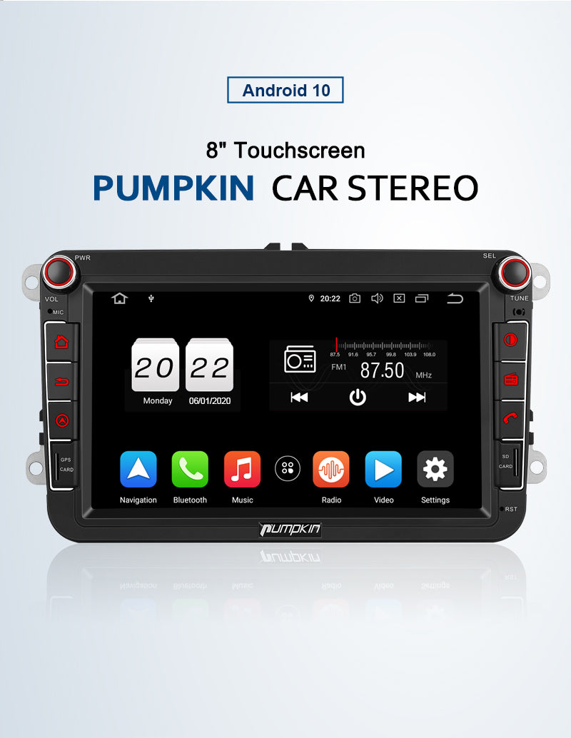 8 inch vw head unit android 10