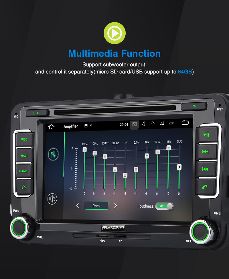 vw golf mk6 Android 10  head unit upgrade