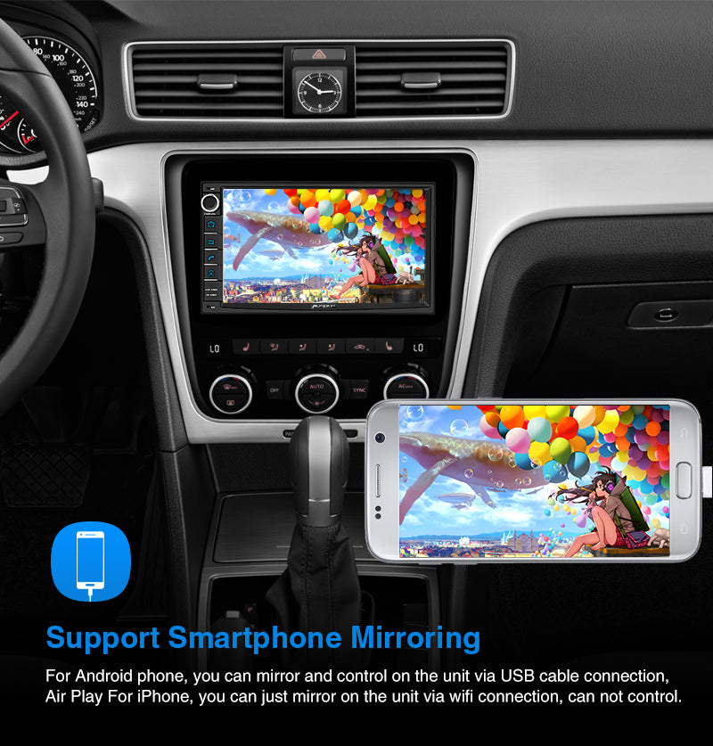 Pumpkin Double Din Touch Screen Android 10 Car Radio Head Unit with Camera ( 4GB+64GB)