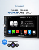 "Pumpkin 7"" Universal Double Din Android Auto Head Unit With Backup Camera(Android 9.0)"