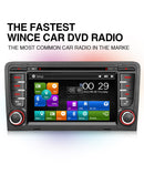 Pumpkin 7 Inch Wince 6.0 System Digital Touchscreen Car Stereo DVD Player for Audi A3
