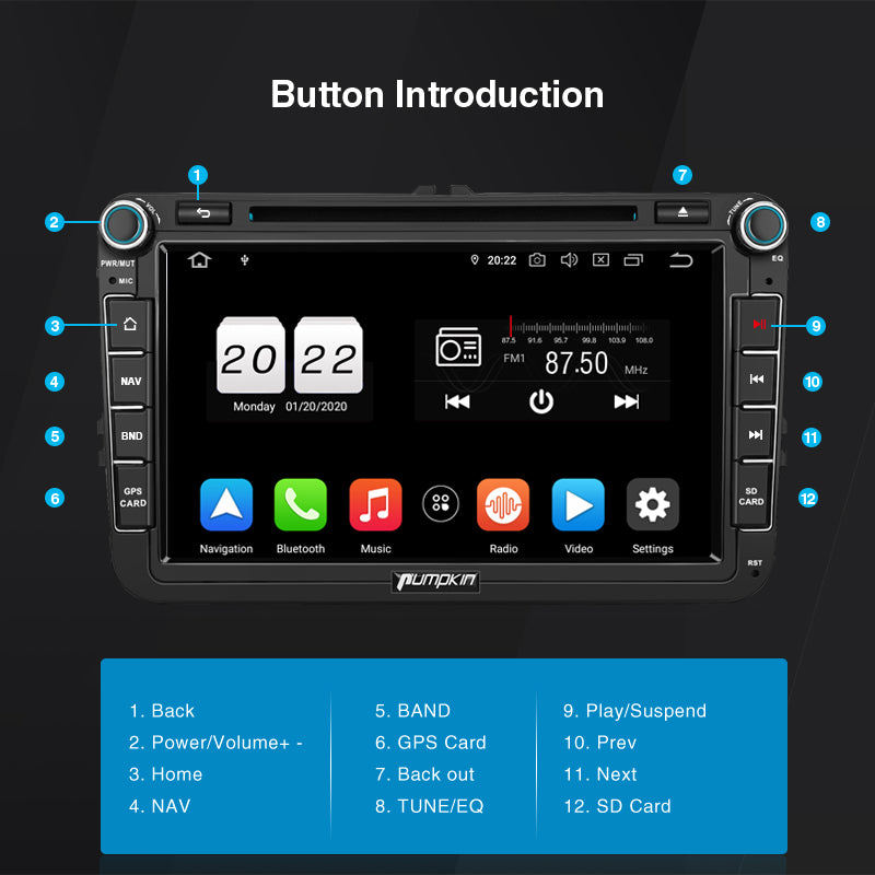 double din stereo android 10
