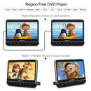 "Pumpkin 10.1"" Headrest DVD Player with Dual 1080P HD Screens, 2 Headrest Brackets and 2 Headphones ,Supports Video Synchronization with HDMI IN / AV IN & OUT, USB / SD"