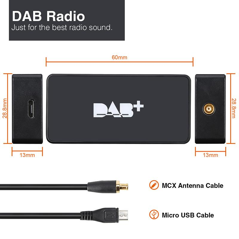 External DAB+ Digital Radio Tuner for Android Car Radio/Stereo