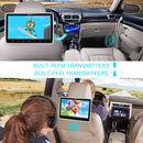 "2x10.1"" Car Headrest Monitor DVD Player with Wireless Headphones and Serrate Headrest Mount, Support HDMI Input/DVD/CD/MP4"