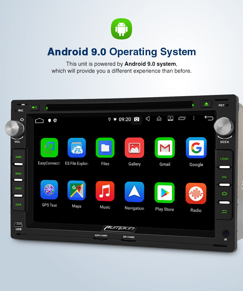 VW Golf 4 Transporter T5 T4 Car Head Unit with GPS Bluetooth, Support DAB Android Auto/ Apple CarPlay