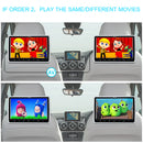 10.1 inch 1024*600 Headrest Monitor DVD Region Free Player with Wireless Headphones and Serrate Headrest Mount, Support HDMI Input/DVD/CD/MP4/MPG