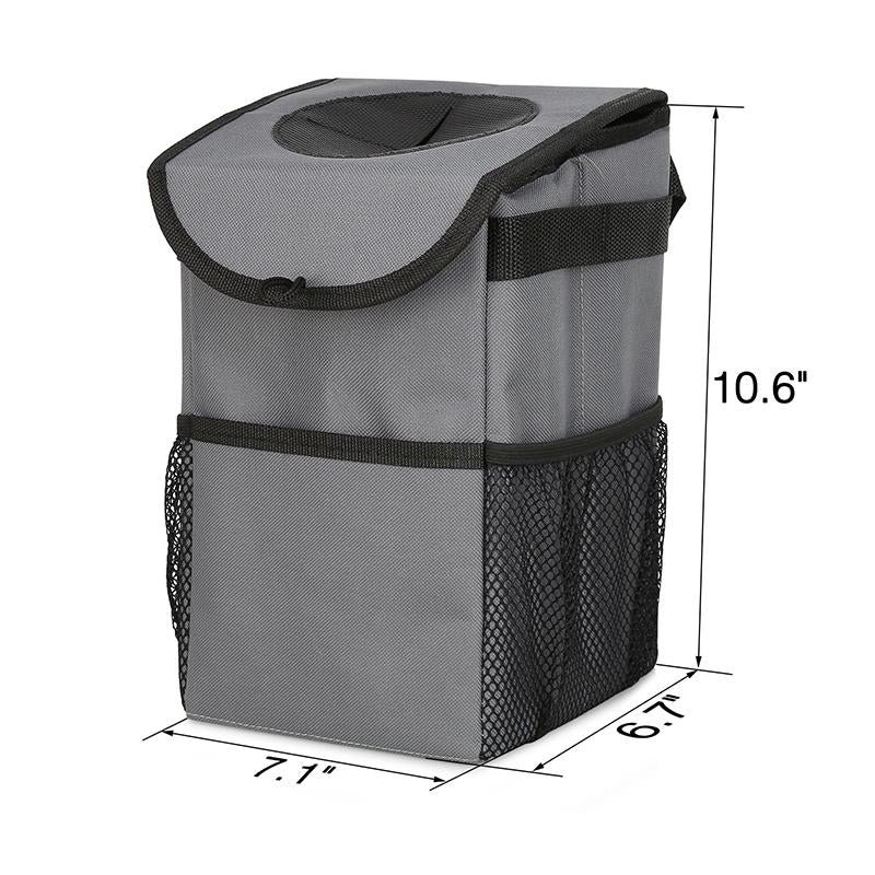 600D Oxford Fabric Leak-proof inner lining Car Trash Can with 2PCS Hangers