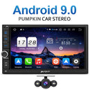 Pumpkin 7 inch Octa-core Android 9.0 Touch Screen Car Stereo With Bluetooth (4+64GB)