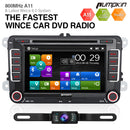 VW Golf Skoda Seat Head Unit with Sat Nav Backup Camera Bluetooth(7 inch 2 din)