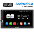 Pumpkin Car Radio Android 9.0 with Sat Nav Bluetooth (4+64GB)