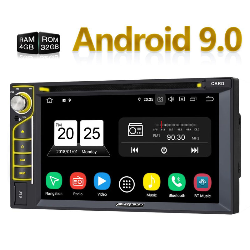 "6.2""  Android Double Din Head Unit with Touchscreen Octa-Core Bluetooth Sat Nav CD Player"