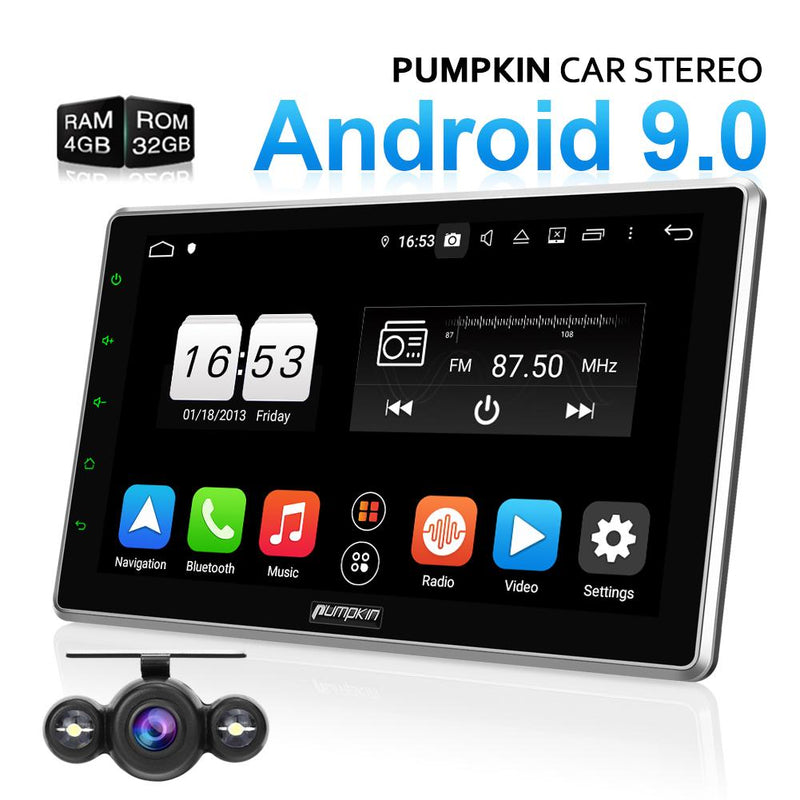 pumpkin uk  10.1 inch car stereo