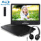 Pumpkin 14 Inch Portable Blu-Ray DVD Player Built-in Large Battery with HDMI Input & Output and Headphone