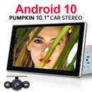 Pumpkin 10.1 Inch Universal 2 Din Android 10.1 Car Radio/Stereo with Rotatable IPS Touch Screen Support Android Auto CarPlay Bluetooth Navigation with Reverse Camera