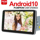 Pumpkin 10.1 inch Android 10 Head Unit 1080P Radio with Bluetooth 5.0 USB SD, Support DAB+ SWC+OBD2+Phonelink+Reverse Camera