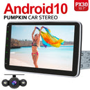 Pumpkin 10.1 Inch 1 Din Touch Screen Head Unit with Adjustable Screen, Reverse Camera, Split Screen Mode.
