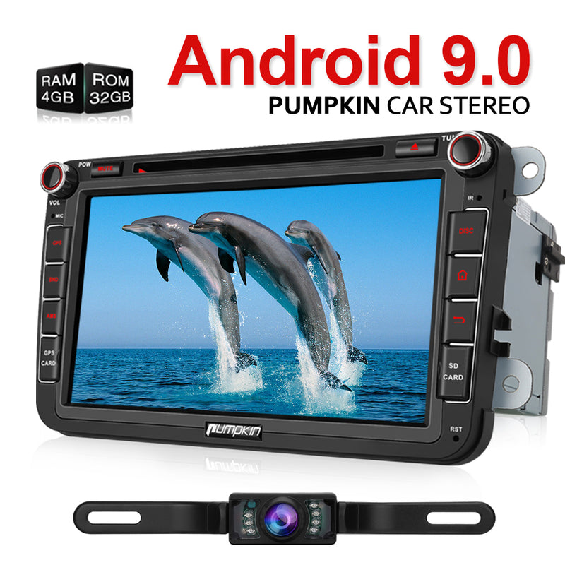 Golf Android 9.0 head unit with backup camera for VW, Seat, Skoda series