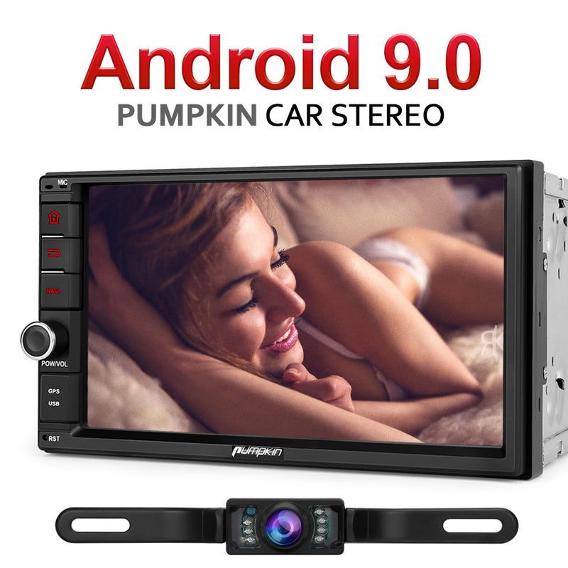 Pumpkin Universal Car Radio Double Din 7 Inch Android Auto Head Unit with Reverse Camera
