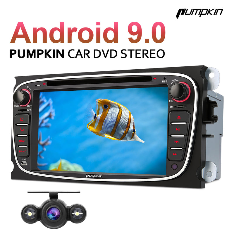 Pumpkin 7 inch Android 9.0 Touch Screen Car Stereo Systems with Bluetooth for Focus MK2/ Mondeo MK4