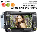 Pumpkin WinCE 6.0 Double Din 7 Inch Car Infotainment Stereo for VW/Seat/Skoda with DVD Player, Bluetooth, GPS