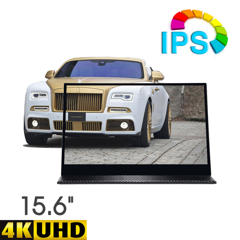 Pumpkin 15.6 Inch IPS 3840*2460 UHD Touch Portable Monitor with Built-in Stereo Speaker