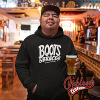 Boots And Braces Hoodie - Oi! Sweatshirt / Street Punk Jumper Hardcore Sweater
