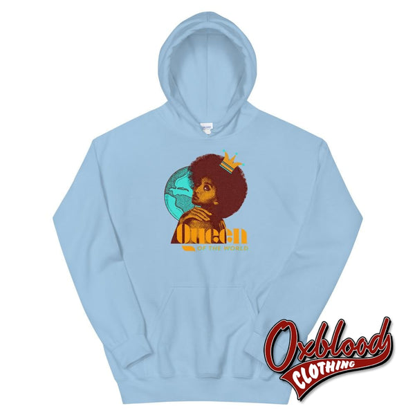 Queen Of The World Hoodie - Trojan Skinhead Reggae Traditional Ska Sweater Light Blue / S