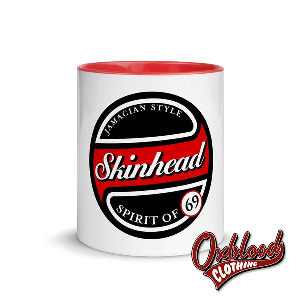 Red Stripe Skinhead Mug With Color Inside - 1969