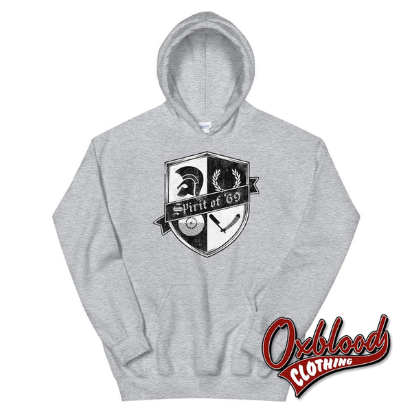 Spirit Of 69 Hoodie - Skinhead And Ska Sweatshirt Sport Grey / S