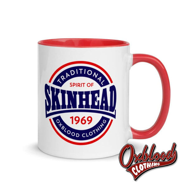 Traditional Skinhead Mug With Color Inside - Spirit Of 1969 Oxblood Clothing