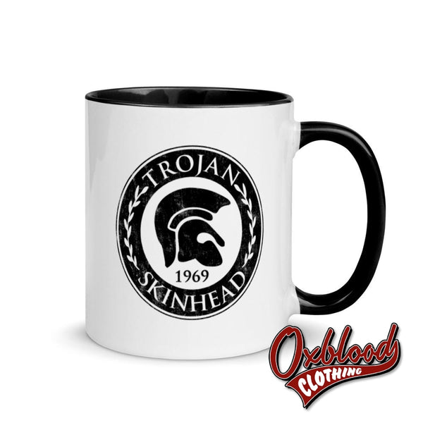 Trojan Skinhead Mug With Color Inside Black