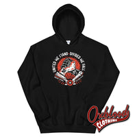 United We Stand Divide Fall Brotherhood Hoodie - Fuck Racism Old School Design Trojan & Oi! Punks