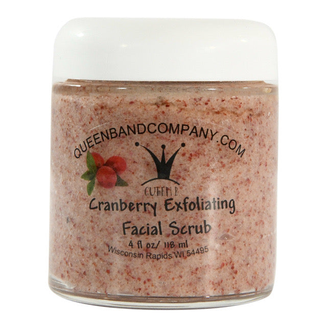 Queen B Cranberry Exfoliating Facial Scrub