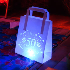 Light bags centrepiece 50th birthday party decorations