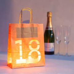 18th Birthday Decoration Bold - Lantern Bag
