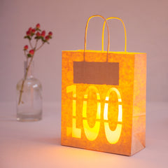 100th Birthday Decoration Bold - Lantern Bag
