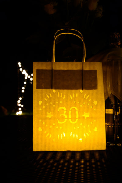 30th Birthday Decorations -Lumiere bags - lantern bags for the perfect party mood